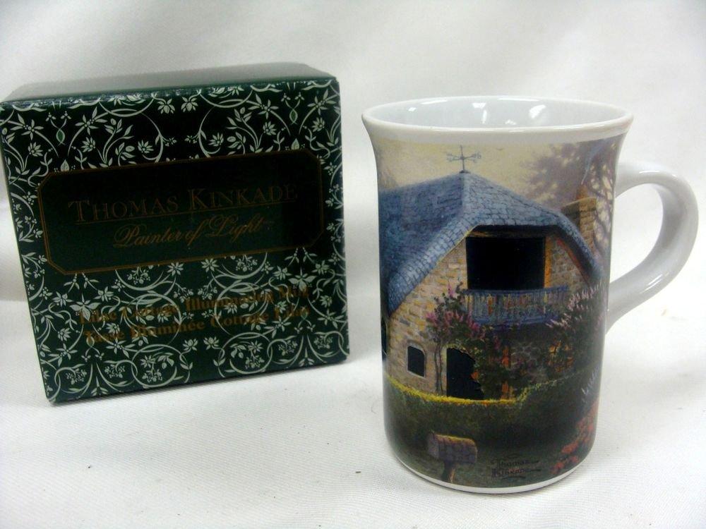 Thomas Kinkade Painter of Light Lilac Cottage Illuminating Mug