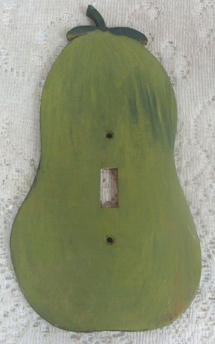 Pear Shape Switch Light Wood Hand Crafted Green Panel