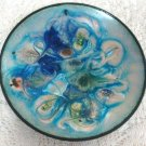Enameled Copper Graphic Handcrafted Dish