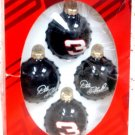 Dale Earnhard Nascar Collectible Black Ornaments.
