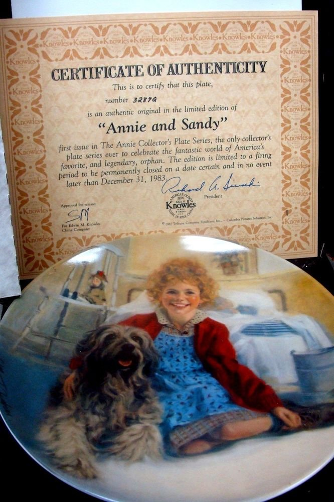 Knowles Annie and Sandie Limited Edition Plate