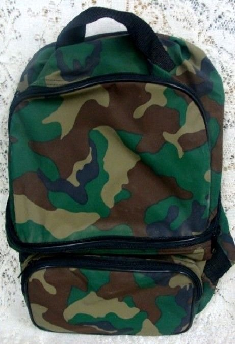 Camouflage Backpack Reversible Unisex Bag