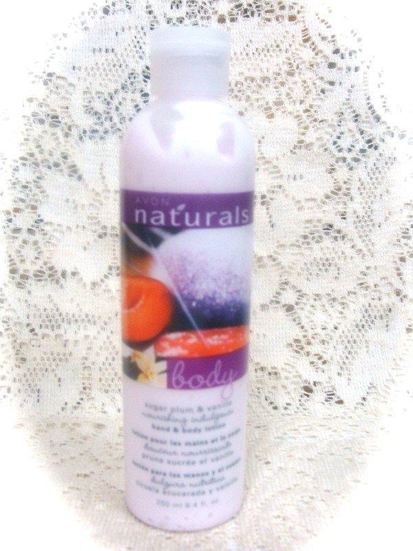 Avon Naturals Sugar Plum & Vanilla  Hand & Body Lotion 8.4 oz.