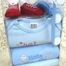 Baby Boy 4 Piece Layette with Shoe Shoes Set
