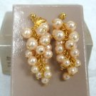 Avon Frosted Grapes Pierced Earrings - (vintage)