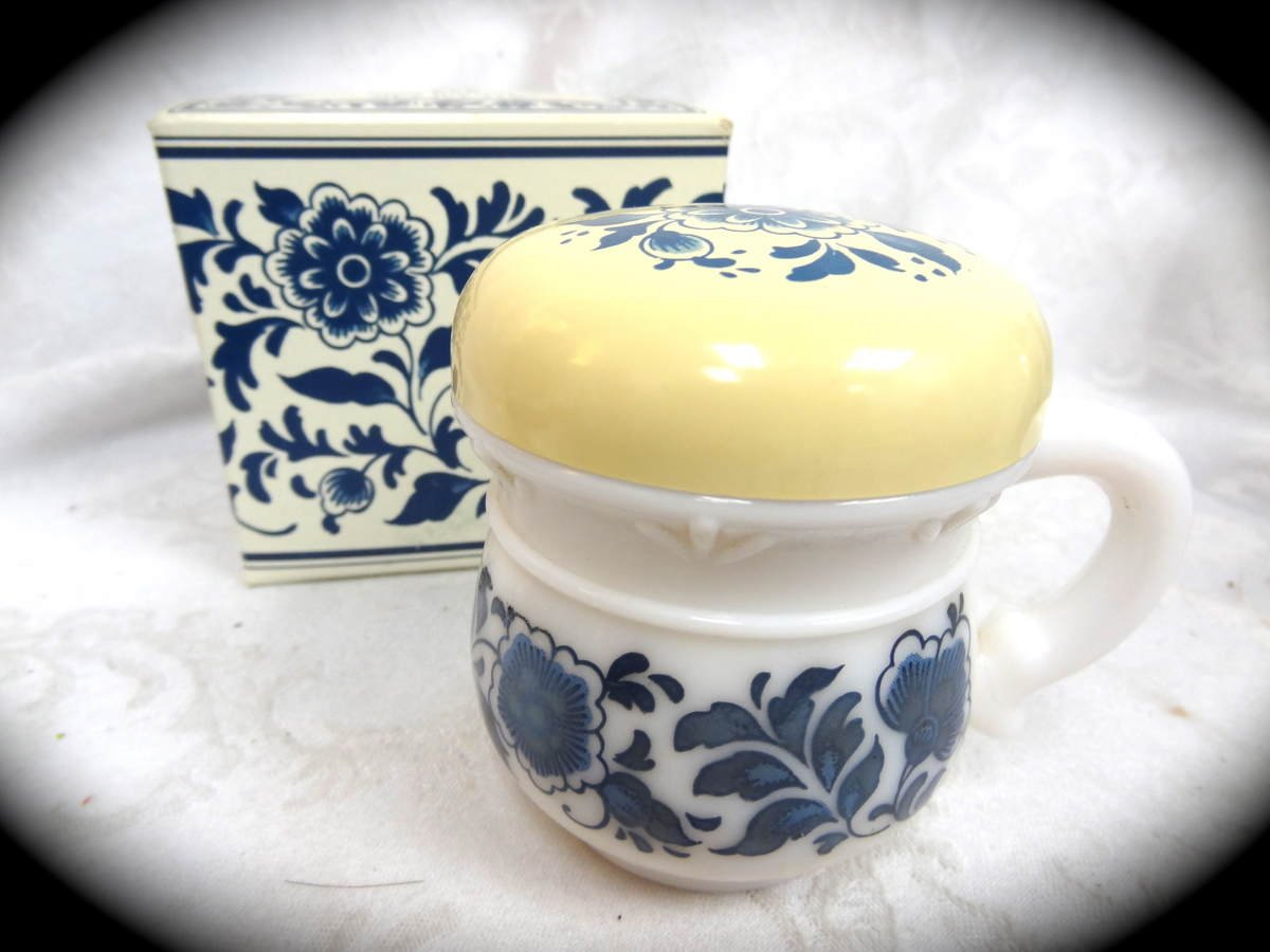 Avon Delft Blue SSS Skin Softener Decanter