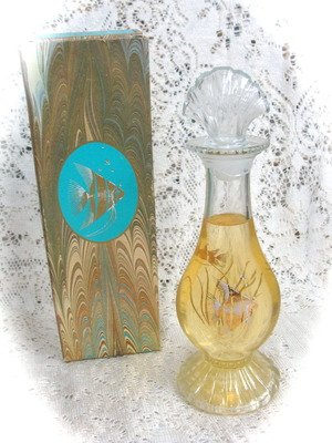 Avon Sea Fantasy Bud Vase  Skin-So-Soft Bath OilDecanter 6 fl. oz.