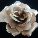 GLOVAANNI GOLDTONE GOLDTONE FLORAL ROSE PIN BROOCH