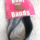 Metalic Silver Ladies  Womens Boot Bands
