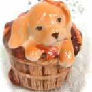 Avon Ceramic Puppy Potpourri  Collectible Decanter