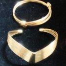Goldtone Wire Bracelet Set Vintage - (NICE)