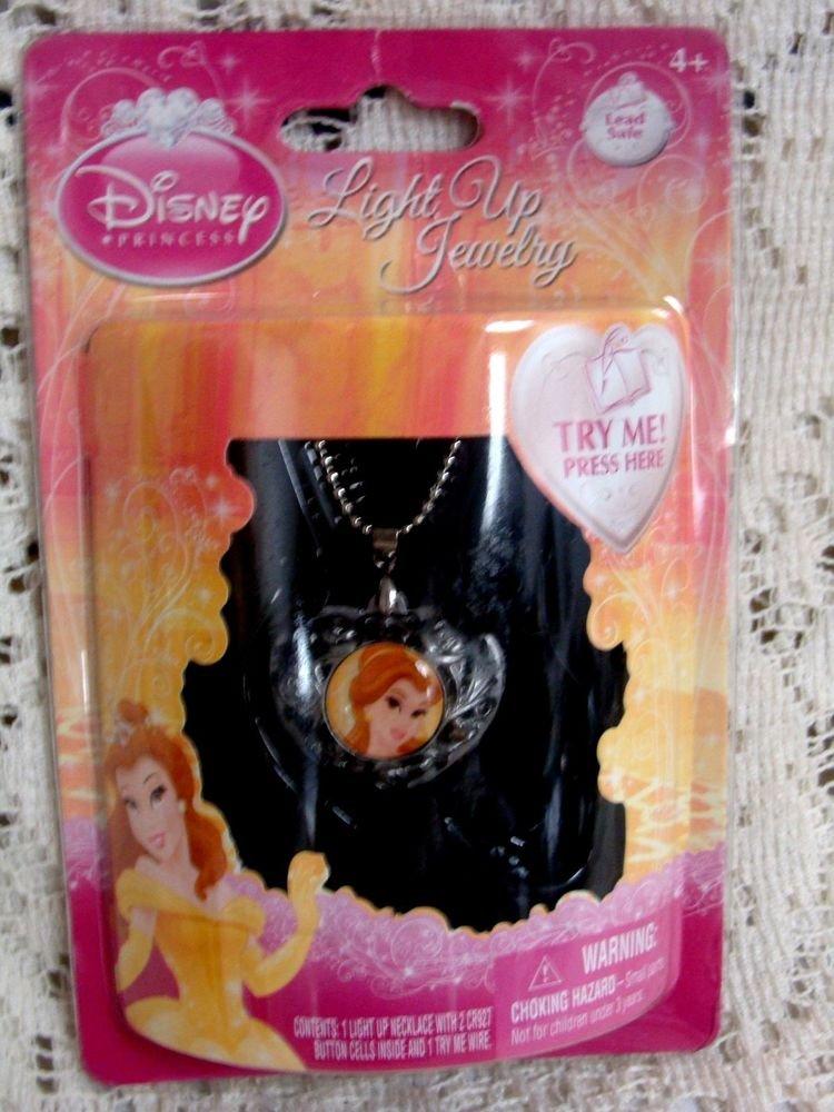 Disney Princess Barbie Light Up Pendant Necklace Jewelry