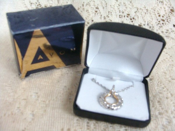 Avon Diamond Accent  Twist Sterling SilverNecklace 925