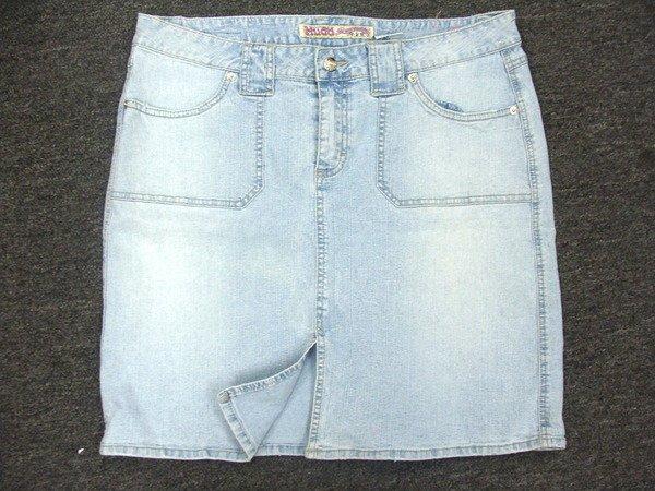 Mudd Denim Womans Girls  Light Blue Skirt Size 13