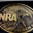 NRA GOLDEN EAGLE BRASS BUCKLE