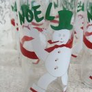 Noel Christman Snowman Glasses (7) Set