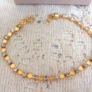 Avon GoldtoneTennis Bracelet   w/ Rhinestones Vintage