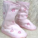 Ladies Faux Fur Lined Boots  Pink/ Rose Size 3