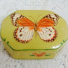 BUTTERFLY PAINTED JEWELRY TRINKET TREASURE BOX