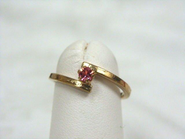 Avon Birthstone October Stackable Ring Rose Size 5 - (vintage)
