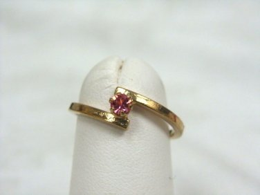 Avon Birthstone October Stackable Ring Rose Size 5 - (vintage)