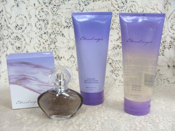 Avon Eternal Magic Toilette Spray Body Lotion & Shower Gel Set