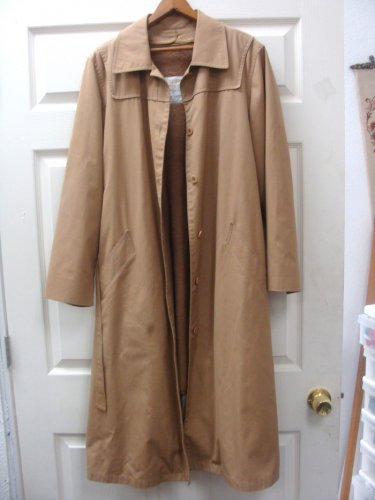 London Fog Mens Weather  Trench Coat Jacket Size 16 Reg.