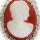 Cameo Vintage Brooch Pin Pendant