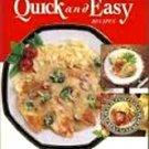 Campbells Quick and Easy Recipes Hardback Cookbook