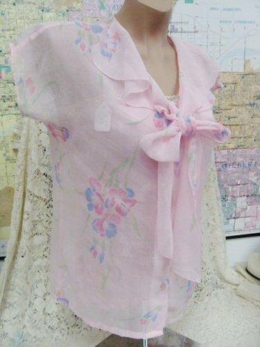 Avon Womens Ladies Pink Floral Top - (L@@K!)