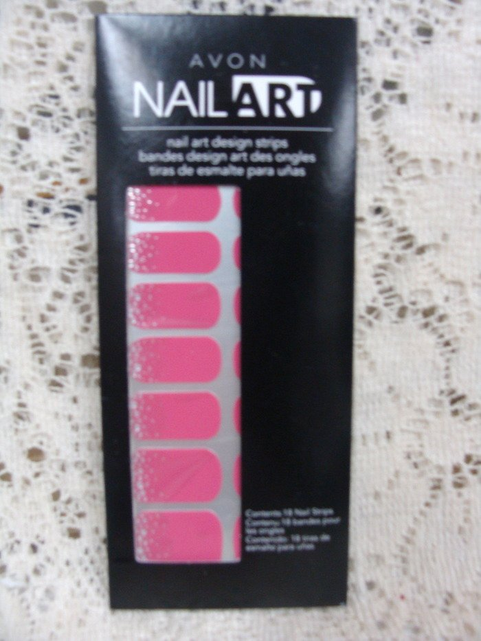 Avon Nailart Design Nails Hot Pink Bling
