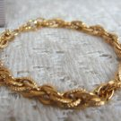 AVON GOLDTONE TEXTURED ROPE BRACELET SMALL - (vintage)