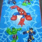 Spiderman, Big Hulk, Wolverine Quilt Blanket