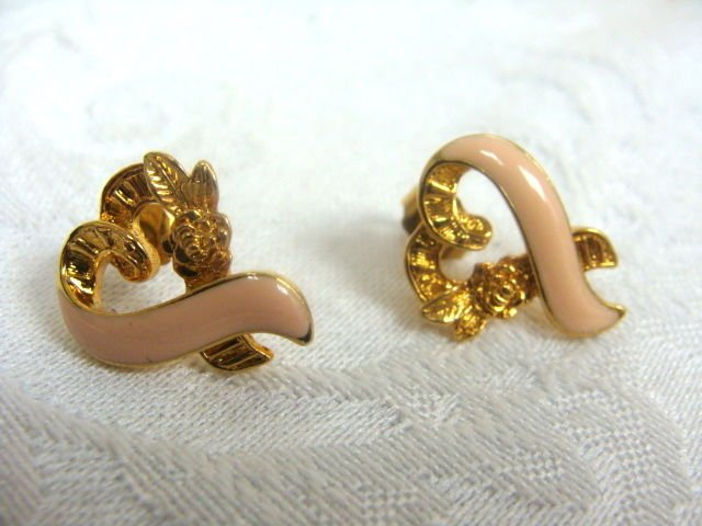 Breast Cancer Pierced Earrings - (L@@K!)