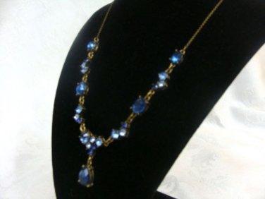 Avon Blue Jewel Pendant - (NICE!)