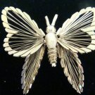 Monet Goldtone Butterfly Pin Brooch - (vintage)