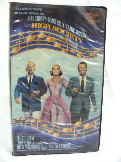 High Society Bing Crosby-Grace Kelly-Frank Sinatra VHS Movie