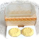 Avon Crystalucent Covered  Butter Dish & Fragranced Soaps