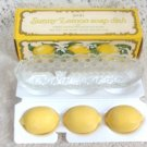 Avon Sunny Lemon Soap Dish  Three Lemon Fragranced Soaps