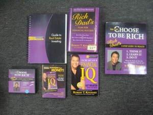 Choose to be Rich by Robert T.  Kiyosaki 6 pc DVD & Book Set