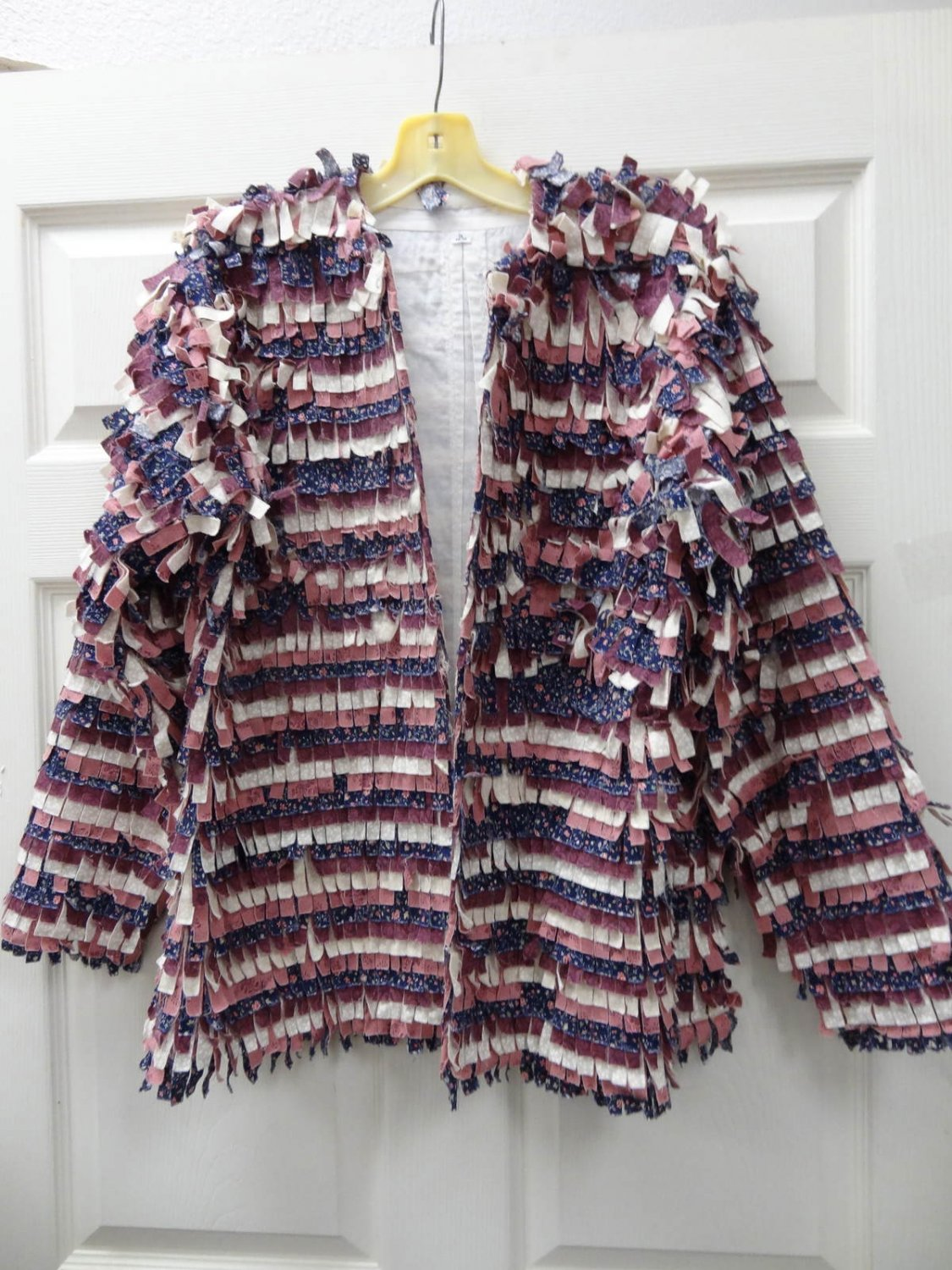 Womens Ladies Mauve Cut Up Material Piece Jacket Size 16