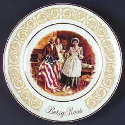 Avon Betsy Ross Collectible 1973 Plate