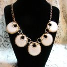 White Disc Collar Necklace Gift Set