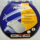 NIB!  NIP!  MEMOREX SCROLLPRO MOUSE PS/2 3 BUTTON PS/2