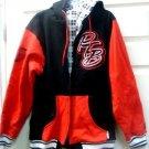 Mens Jacket NBA Sports Red / Black Trail Blazers Hoodie Heavy Jacket Size L