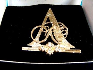Avon Goldtone Rose Circle Club Brooch Pin 1993-1994