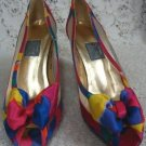 Ladies Womens Multi Summer Colored High Heel Pumps Shoes Size 7.5