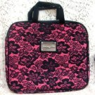 Betsyville Betsey Johnson Black & Pink Floral Laptop Purse Case