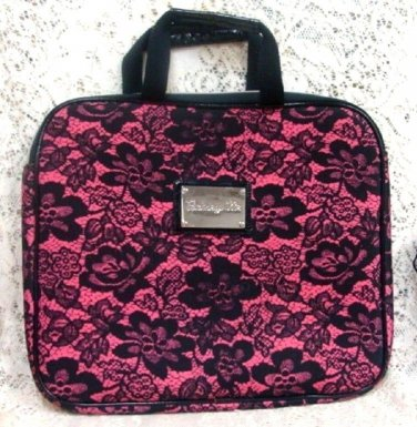 Betsyville Betsey Johnson Black & Pink Floral Laptop Purse Case