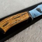Fixed Blade Eagle Etched Knife in Wood Box Display NEW